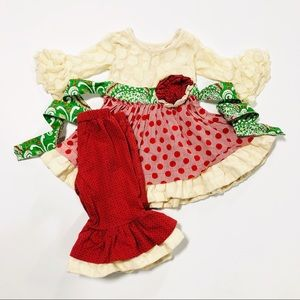 Mustard Pie 9M Red & Ivory Holiday Set